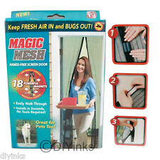 2pk Magic Mesh Hands-Free Screen Door with magnets AS SEEN ON TV w/ Original Box