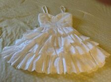 White Patterned Lace Betsey Johnson Plate Bustier  Dress embroidered Size 0  XXS
