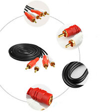 4.9FT Dual 2 RCA TO 2 RCA Audio Video AV Cable FOR HDTV DVD VCR Stereo Audio