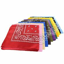 LOT OF 12PCS MIX ASSORTED COLOR PAISLEY UNISEX HEAD WRAP WRISTBAND SCARF BANDANA