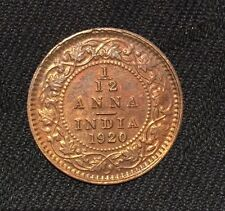 1920 1/12 one twelfth ANNA coin. India