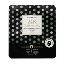 *ETUDE HOUSE* 24K Gold Therapy Black Pearl Mask (Brightening) 32g