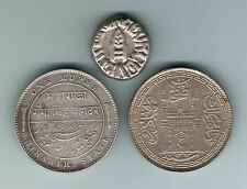 Indian States. Bikanir:1897 Rupee, Bundi:1889 1/2 Rupee, Hyderabad:1942 Rupee