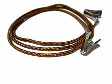 Brown Paracord Eyeglass Holder, Eyeglass Chain, Eyeglass Cord, Silver Clips, 346