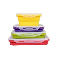 FOOD COLLAPSIBLE STORAGE SILICONE CONTAINERS, SET OF 4, AIRTHIGHT