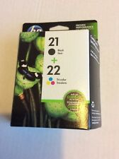 HP 21/22 Black and Tricolor Ink Cartridges (C9509BN), Combo 2/Pack EXP 4/2018