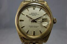 ROLEX VINTAGE 14K GOLD OYSTER PERPETUAL DATE ALL ORIGINAL FLORENTINE WATCH, 1503