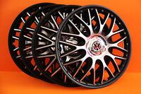"""14"""" Vw Polo,Golf,Fox,Lupo,etc... Wheel Trims / Covers, Hub Caps,black&silver"""