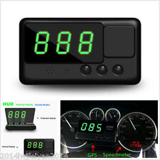 New HUD GPS Digital Speedometer Head UP Display Projection Car Overspeed Alarm