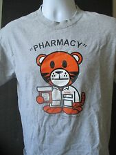 THOMAS J LONG SCHOOL OF PHARMACY DOUBLE SIDED TIGER VICODIN CARTOON T SHIRT