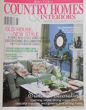Country Homes & Interiors - British Edition June 2004 Summer Decorating