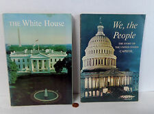 Set (2) 1964 WE THE PEOPLE Story United States Capitol & 1963 WHITE HOUSE Books!