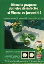 """Publicité Ancienne """" Produit Entretien VIM 99%  1970 """" (  P. 31 )"""