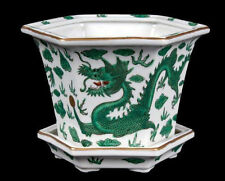 China 20. Jh.  - A Chinese 'Green Dragon' Jardiniere & Stand - Chinois Cinese