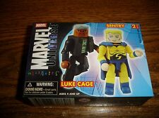 Marvel Minimates 2006 Art Asylum Luke Cage Sentry Figure 2 pack MIP