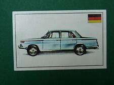 N°141 BMW 1800 ALLEMAGNE DEUTSCHLAND PANINI 1972 HISTOIRE DE L'AUTOMOBILE