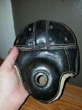 Early Old Antique 1920's Goldsmith 43 Leather Football Helmet Vintage