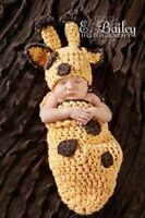 Hand Crochet Newborn Baby Giraffe Cocoon Photo Prop Halloween Costume Zoo Animal