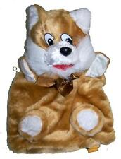 CUTE LIGHT BROWN FOX CHILDRENS BACK PACK  kids plush animal backpack NEW ZIP UP