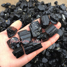 50g Natural Black Crystal Tourmaline Raw Gemstone Rough Stone Rock Craft Finding