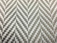 Groundworks OUTDOOR Upholstery Fabric- Avignon Chevron Grey 1.10 yd GWF-3321.11