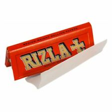 50 BOOKLETS RIZLA RED CIGARETTE ROLLING PAPERS ORIGINAL 2500 PAPERS