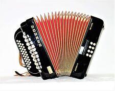 HOHNER bottone fisarmonica norma IV de Luxe bottone Fisarmonica Accordion, molto bene