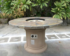 New 2016 Outdoor Natural Slate Fire Pit Outdoor Dining Table Propane Firepit
