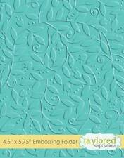 TAYLORED EXPRESSIONS  LEAFY VINE  EMBOSSING FOLDER  TEEF24  NIP