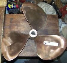 large used shiny brass bronze inboard boat propeller 20 inch diameter right hand