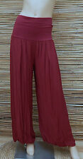 LAGENLOOK AMAZING QUIRKY BOHO HAREM OVERSIZE TROUSERS/PANTS*MAROON*SIZE S