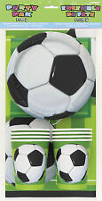 Football Soccer Party Tableware pack for 8 Napkins Plates Cups Tablecover