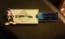 El Capitan Cinderella Premiere Ticket Pin LE 750 Disney Pin