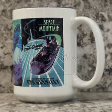 Disney Parks Classic Attraction Poster Mug TOMORROWLAND - 14 oz Monorail, Space