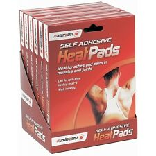 6x MASTERPLAST SELF-ADHESIVE TWIN PACK INSTANT HEAT PAIN RELIEF PADS