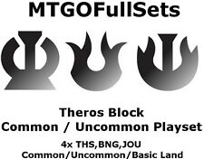 MTGO Magic Online Theros Block 4xCommon/Uncommon/Land Playset THS BNG JOU