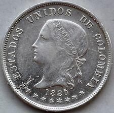 Colombia. 50 Centavos 1880. Rare.
