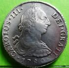 SCARCE ASSAYER CARLOS III 8 REALES 1780 LIMA -MI- SPANISH COLONIAL SILVER