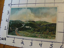vintage Post Card: Trains on Mt. Washington en route to sumit,  White mts NH