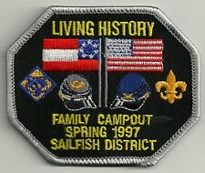 BSA SAILFISH District 1997 Spring Family Campout Living History Patch V4