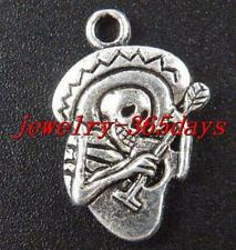 10pcs Tibetan Silver Skull Charms 22x15x2.5mm 12298