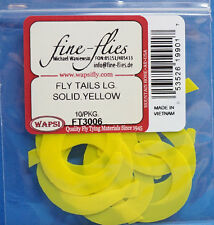 Fly Tails large Wapsi EE. UU. de silicona 10 piezas Solid Yellow