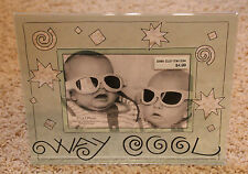 "WAY COOL 3.5x5"" Picture Frame with Shapes NEW"