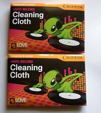 Vinyl Record Cleaning Cloth - quality microfibre cloth from Calotherm: PACK OF 2