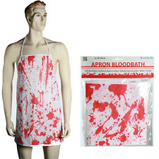 APRON BLOODBATH SCARY FUN NOVELTY HALLOWEEN KITCHEN COOKING BUTCHERS HORROR NEW