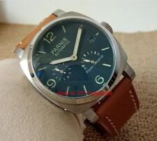 Parnis 44mm Blue glass Power Reserve Indicator automatic Men's watch