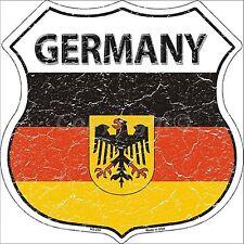 Germania Bandiera in metallo a forma di SCUDO WALL SIGN 670 mm x 670 mm (SB)