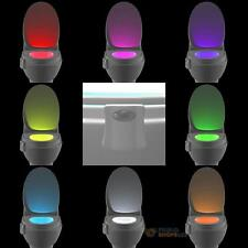8-Color Changing Toilet LED Night Light Human Motion Activated Seat Sensor Lamp