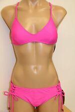 NWT Hobie swimsuit bikini 2pc set Sz S Pink Adj. Side
