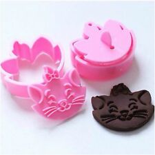 2 The Aristocats Marie Cat Disney Cartoon Cookie Cutters Fondant Cake Stamp Mold